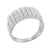 Sterling Silver 4 Row Mens Wedding Band Simulated Diamond 14K White Gold Finish
