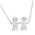 Boy Girl Child Pendant Sterling Silver Necklace