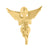 Praying Angel Pendant Yellow Gold Finish 925
