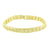 Mens Custom Link Bracelet 14K Yellow Gold Finish Yellow Lab Diamond