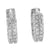 Sterling Silver Earring White Gold Finish Simulated Diamond Womens Hoop