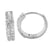 Sterling Silver Women's Lab Diamonds Hoop Earrings