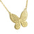 Designer Butterfly Women's Pendant Necklace Set Sterling Silver