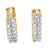 Lab Diamond 14K Gold Finish 925 Silver Hoop Earrings