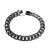 Black Finish Miami Cuban Bracelet Black Simulated Diamonds