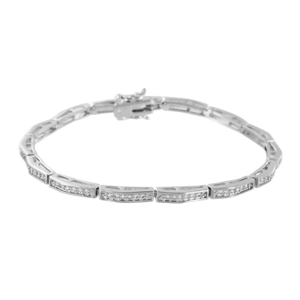 Bracelets On Sale White Gold Finish Lab Diamonds Micro Pave