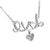 Womens Love Heart Pendant White Gold Finish