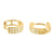 2 Row Lab Diamond Yellow Gold Finish 925 Silver Female Hoop Earrings