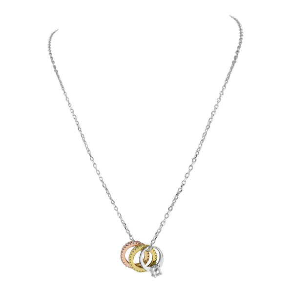 Womens 3 Circle Ring Necklace
