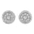 925 Silver Cubic Zirconia Push Back White Finish Earrings