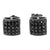 Black Gold Finish Dome Style Cubic Zircon 925 Silver Earrings