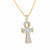 Mens Ankh Cross Pendant 925 Sterling Silver Lab Diamodns Pave Set Iced Out Silver Chain