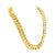 Miami Cuban Necklace Bracelet Set 14k Gold Finish Solid 16 MM