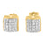Yellow Gold Finish Dome Style Cubic Zircon 925 Silver Earrings