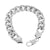 Miami Cuban Chain Steel Bracelet Combo White Gold Finish 16 MM Thick
