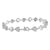 Womens Heart Link Bracelet 14K White Gold Finish Elegant Lab Diamond