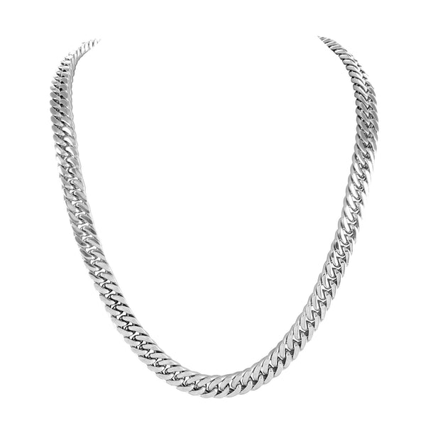 Miami Cuban Chain Necklace Stainless Steel Elegant 6 MM