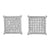 Square Micro Pave Earrings White Finish Sterling Silver Lab Diamond