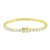 Solitaire Round Cut Bracelet 1 Row Tennis Link 14K Yellow Gold Finish