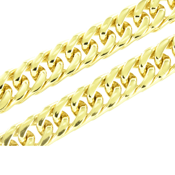 Stainless Steel Miami Cuban Chain Yellow Gold Finish 8 MM