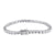 Solitaire Round Cut Bracelet 1 Row Tennis Link 14K White Gold Finish