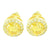 Canary Solitaire Circle Lab Diamond Bling Earrings