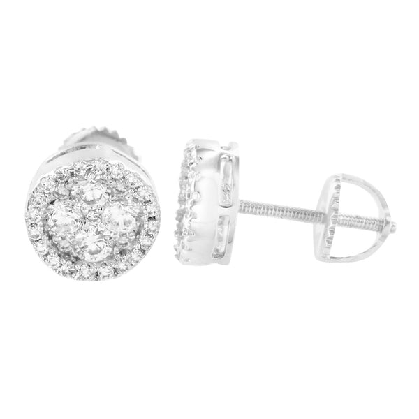 Princess Cut Look Earrings Round Lab Daimond