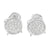 Round Design Mens Earrings White Rhodium Finish