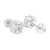 Marquise Cut Round Earrings Lab Diamond White Tone