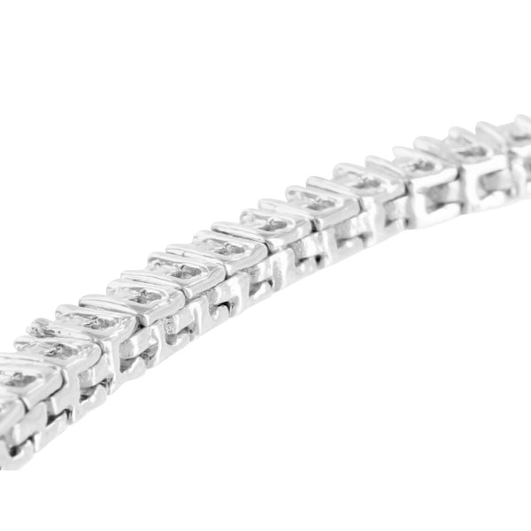 Womens Silver 925 Tennis Bracelet 14k White Gold Finish Lab Diamond