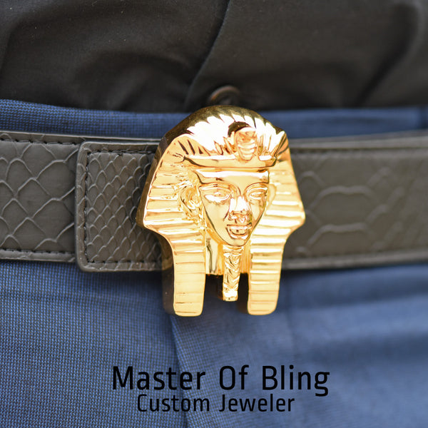 Designer Egyptian Pharaoh Design Belt Buckle