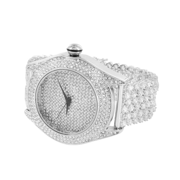 Mens  Watch Simulated Diamonds Techno Pave Hip Hop Bling