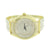 Mens Gold Finish Watch Fully  Prong Set Band