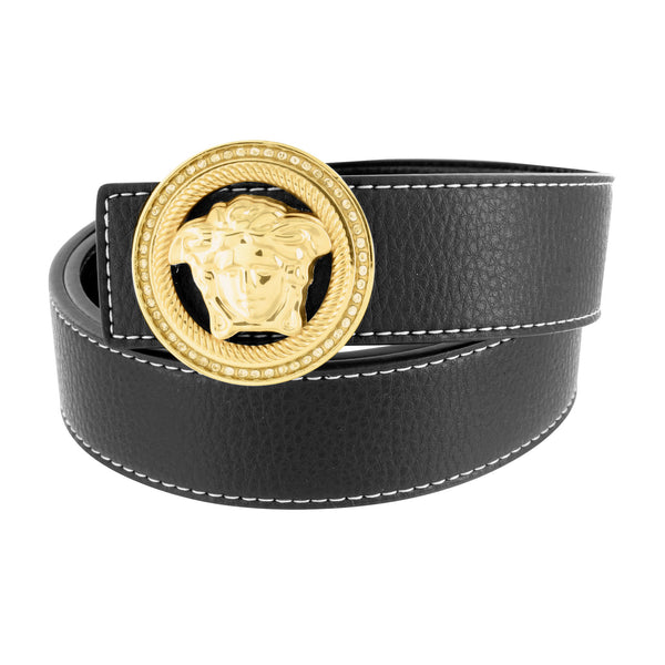 Medusa Buckle With Free Leather Black Belt