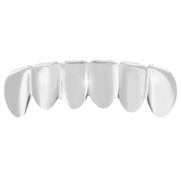 Hip Hop Custom Fit White Gold Plate Mouth Teeth Grillz Rapper Wear Mens