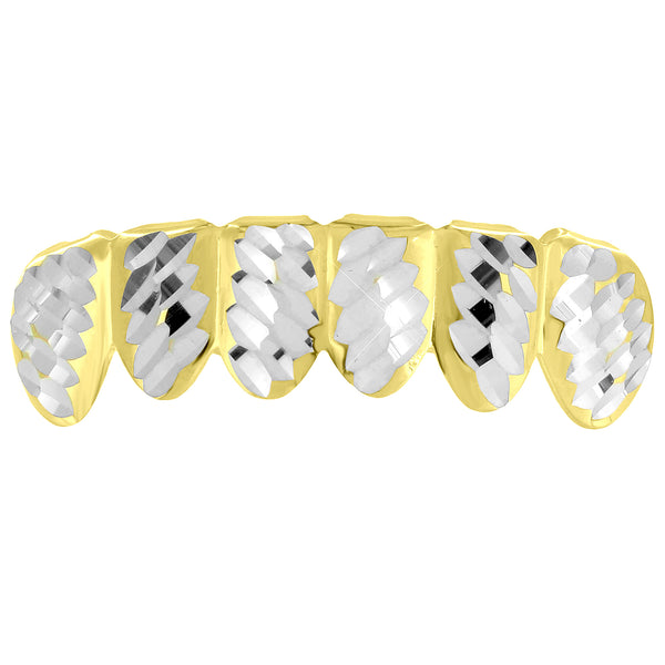 Yellow Gold finish Diamond Cut Grillz