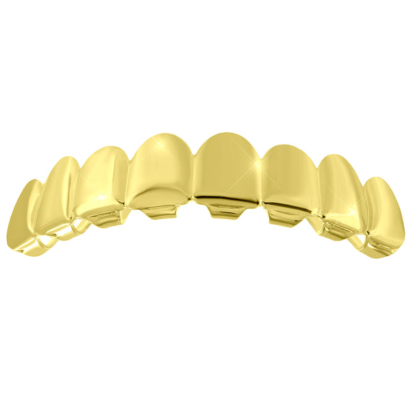 8 Teeth Top Grillz 14k Yellow Gold Finish