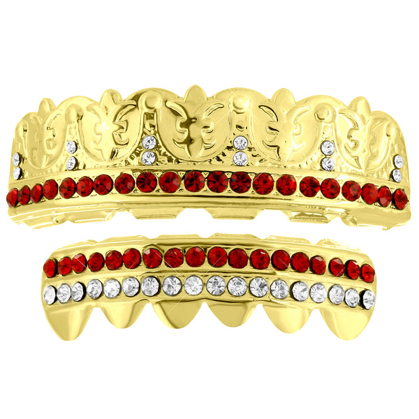 Designer Top Bottom Grillz Set Lab Diamond Hip Hop