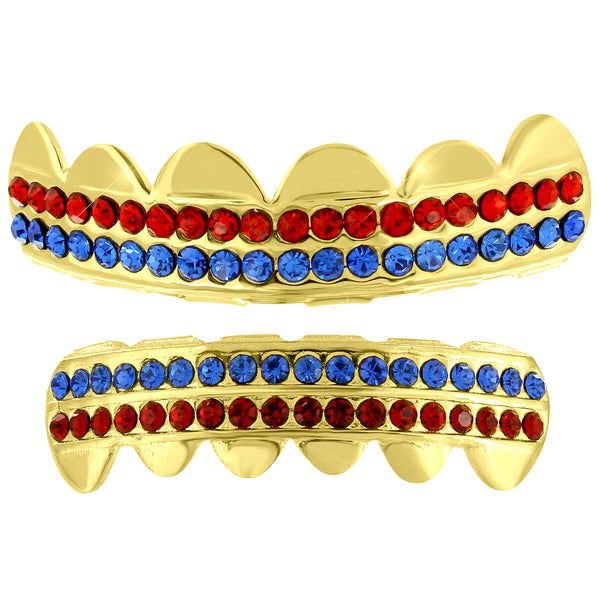 Ghoul Cool Grillz Set Lab Diamond Yellow Finish