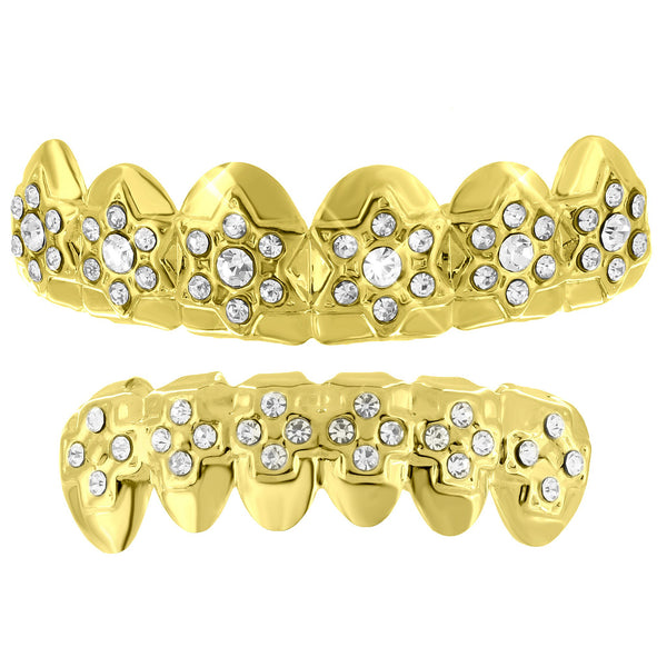 Designer Bling Grillz Top Bottom Set Holiday Special