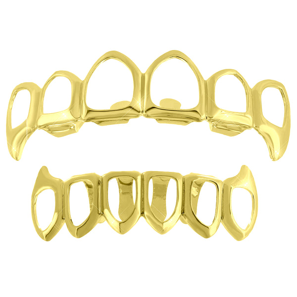 Cut Out Grillz Top Bottom Set Fangs For Halloween Special Sale