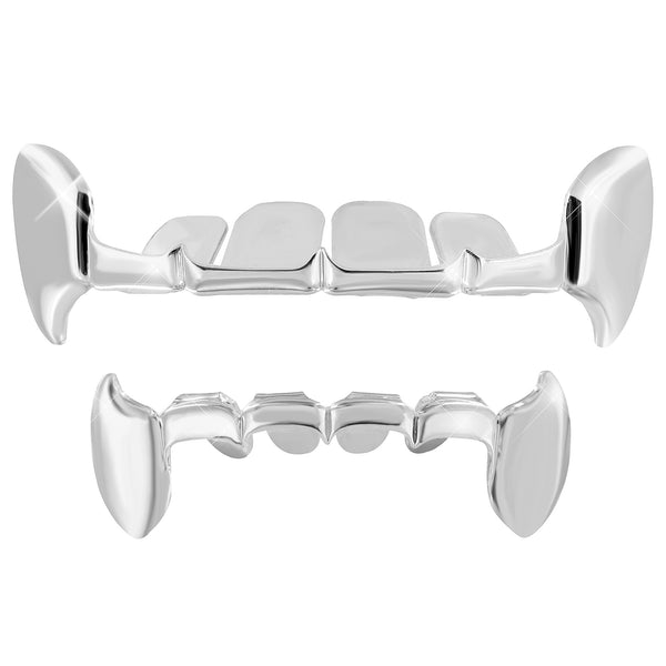 Grillz For Halloween Top Bottom Set White Finish
