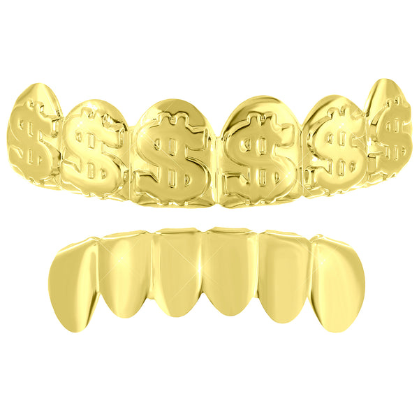Dollar Design Custom Top Plain Bottom Grillz Halloween Sale