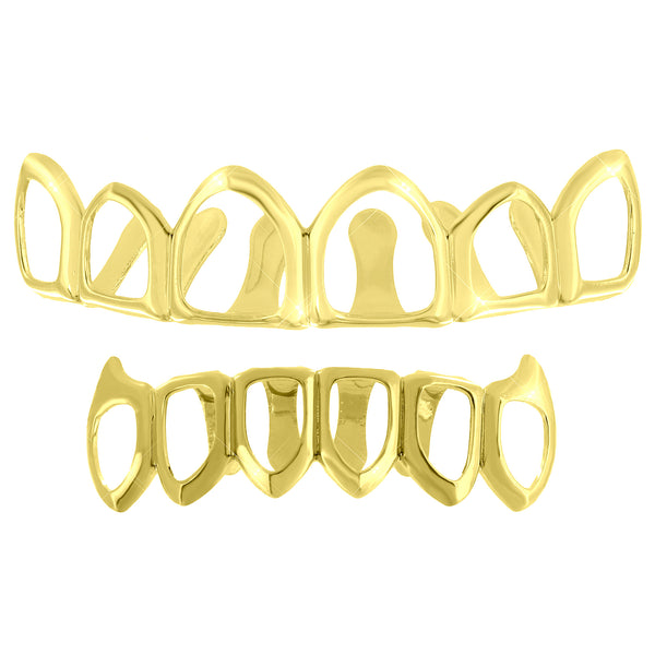 14k Yellow Finish Grillz Halloween Special Sale