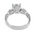 Ladies Solitaire Ring 925 Silver Simulated Diamonds Wedding Bridal Engagement