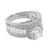 Women Channel Set Ring Solitaire Round Cut Simulated Diamonds 925 Silver Wedding