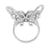 Womens Butterfly Design Ring Simulated Diamond Sterling Silver Unique Party Wear