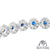 Solitaire Blue Ruby Lab Diamond 925 Silver White Finish Bracelet Womens