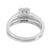 Round Cut Solitaire Ring Matching Band Engagement Simulated Diamond 925 Silver