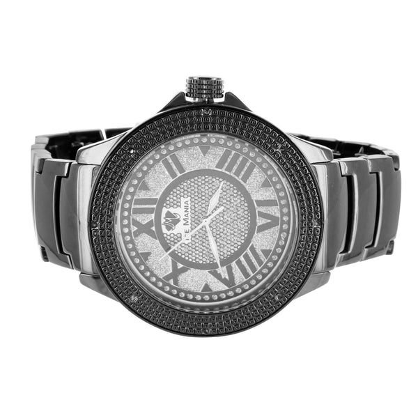 Roman Numeral Dial Classy Ice Mania Joe Rodeo Jojino Stainless Steel Back Watch